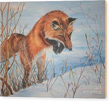 Pounce Wood Print by Darlene Watters