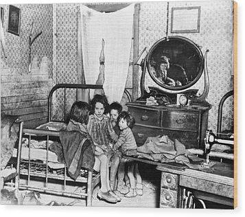 Poverty Stricken Children In A Rural Wood Print by Everett