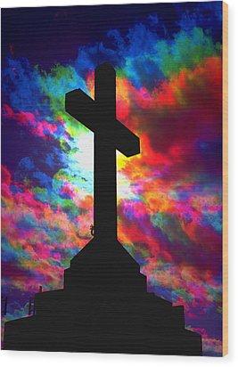 Power Of The Cross Wood Print