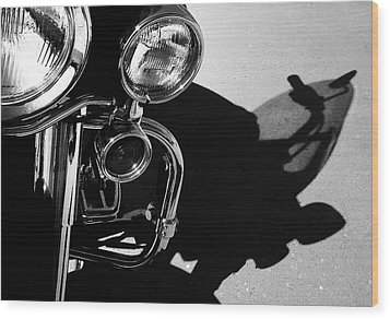 Power Shadow - Harley Davidson Road King Wood Print by Steven Milner
