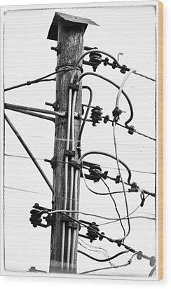Power To The People Wood Print by David Ridley