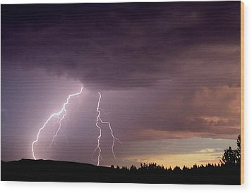Power Unleashed Wood Print by Peter Mooyman