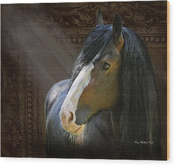 Powerful Paul The Legend Wood Print by Terry Kirkland Cook