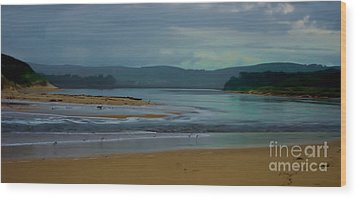 Powlett River Inlet On A Stormy Morning Wood Print by Blair Stuart