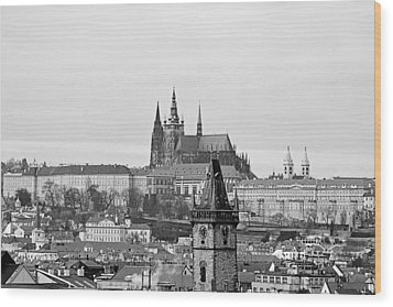 Prague - City Of A Hundred Spires Wood Print by Christine Till