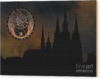 Prague Casle - Cathedral Of St Vitus - Monuments Of Mysterious C Wood Print by Michal Boubin