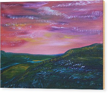 Prairie Lights Wood Print by James Bryron Love