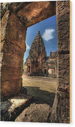 Prasat Phnom Rung Wood Print by Adrian Evans