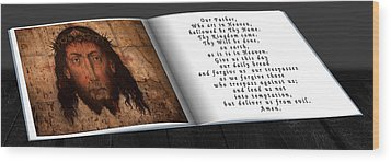 Prayer Book Wood Print