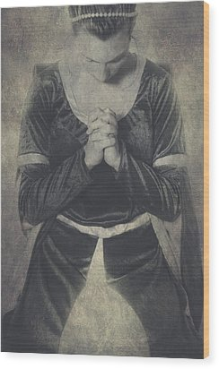 Prayer Wood Print by Joana Kruse