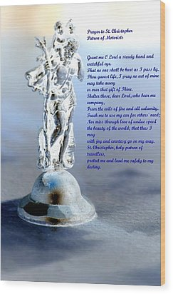 Prayer To St Christopher Wood Print by Maria Urso