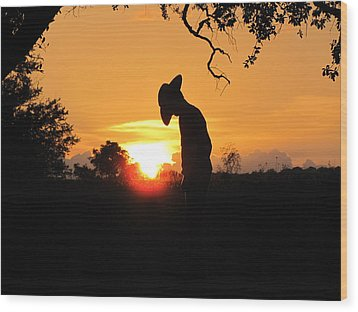 Praying Wood Print by Barry Moore