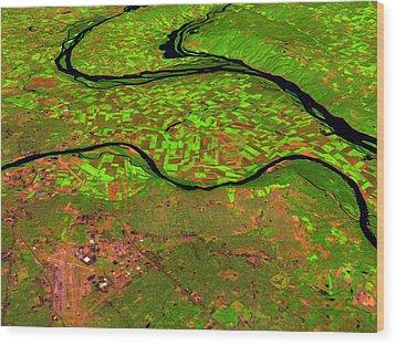 Pre-flood Rivers Wood Print by Nasagoddard Space Flight Center
