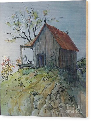 Precarious Wood Print by Judith A Smothers