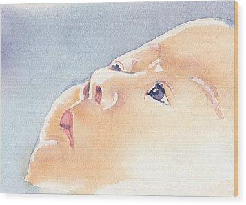 Precious Calm Wood Print by Lynn Babineau