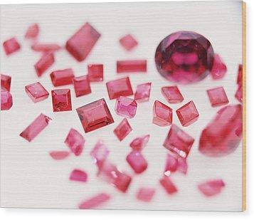 Precious Gemstones Wood Print by Lawrence Lawry