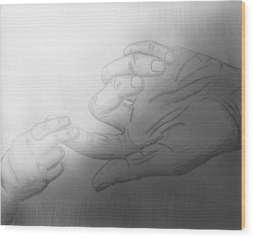 Precious Touch Wood Print by Kume Bryant