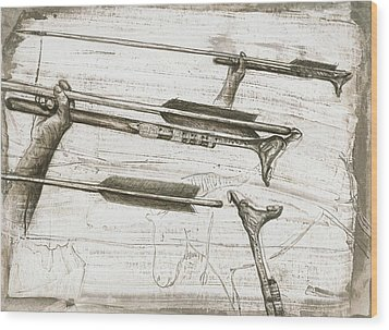 Prehistoric Spear-thrower Wood Print by Kennis And Kennismsf