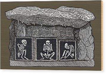 Prehistoric Tomb, Sweden Wood Print by Sheila Terry