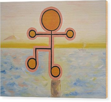 Present - Being Or Occurring Now. Wood Print by Cory Green