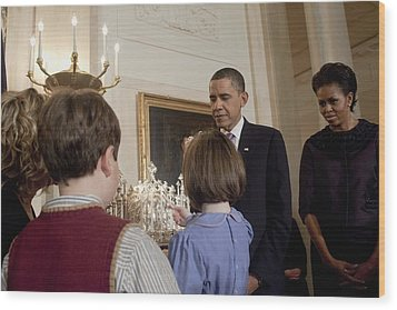 President And Michelle Obama Watch Wood Print by Everett