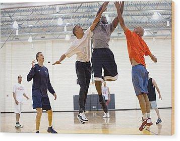 President Barack Obama Attempts Wood Print by Everett