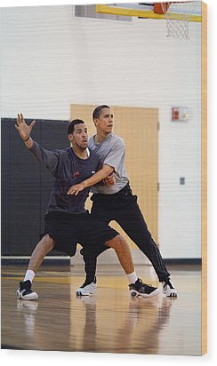 President Barack Obama Guards Wood Print by Everett