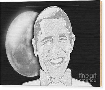 President  Barrack Obama Wood Print by Belinda Threeths