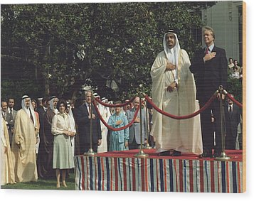 President Carter And Prince Fahd Bin Wood Print by Everett