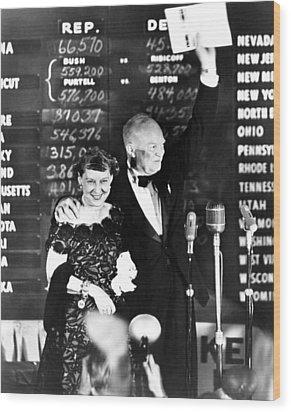 President-elect Dwight Eisenhower Wood Print by Everett