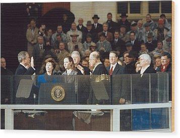 President-elect George W. Bush Is Sworn Wood Print by Everett