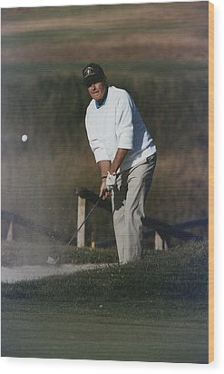 President George Bush Plays Golf Wood Print by Everett