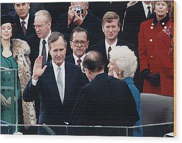 President George Herbert Walker Bush Wood Print by Everett