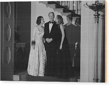 President Gerald Ford Betty Ford Wood Print by Everett