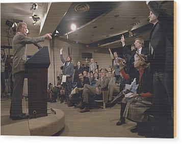 President Jimmy Carter At His 44th Wood Print by Everett