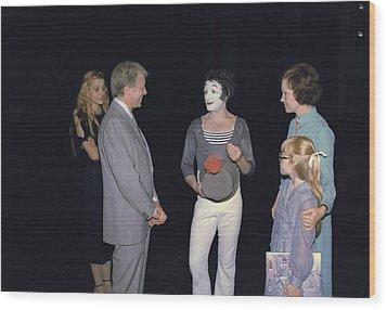 President Jimmy Carter Rosalynn Carter Wood Print by Everett