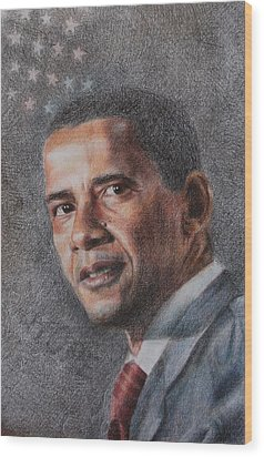 President Wood Print by Joanna Gates