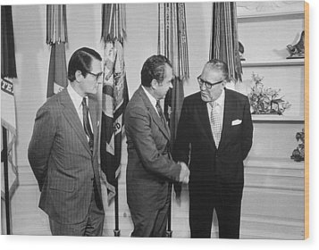 President Nixon With Attorney-general Wood Print by Everett