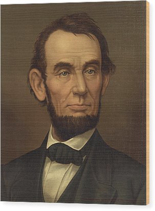 Wood Print featuring the photograph President Of The United States Of America - Abraham Lincoln  by International  Images