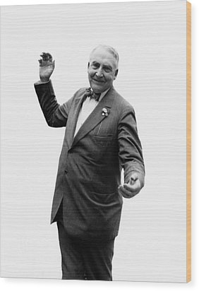 Wood Print featuring the photograph President Warren G Harding - C 1920 by International  Images