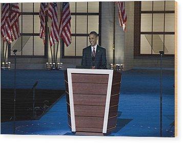 Presidential Candidate Barack Obama Wood Print by Everett