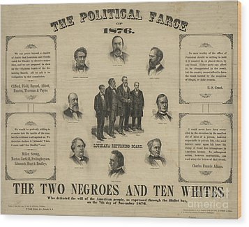 Presidential Election, 1876 Wood Print by Granger
