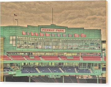 Press Box 2 Wood Print by Jonathan Harper