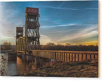 Wood Print featuring the photograph Preston'strain Bridge by Kimberleigh Ladd