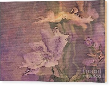 Pretty Bouquet - A04t4b Wood Print by Variance Collections