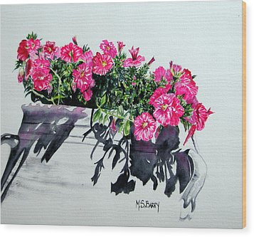 Pretty In Pink Wood Print by Maria Barry