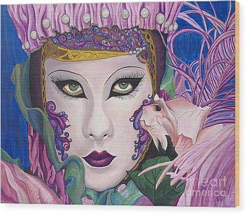 Pretty In Pink Wood Print by Patty Vicknair
