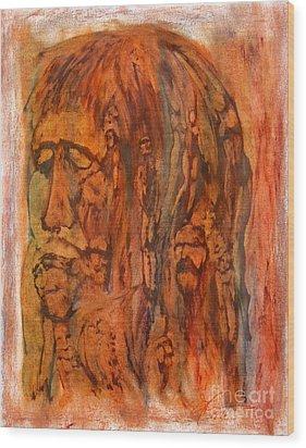 Primal Ancestry Wood Print by Linda May Jones