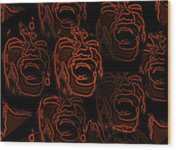 Primal Screams  Wood Print by David Dehner