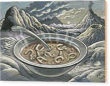 Primordial Soup Wood Print by Bill Sanderson